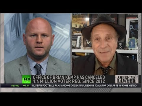 Greg Palast Sues Georgia's Brian Kemp for Purging 340K from Voter Rolls Ahead of Election!