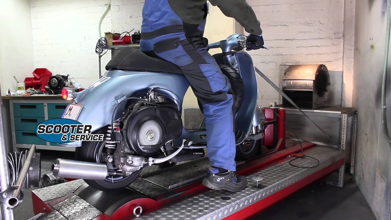 scooter service dyno run vespa vnb 221 youtube. Black Bedroom Furniture Sets. Home Design Ideas