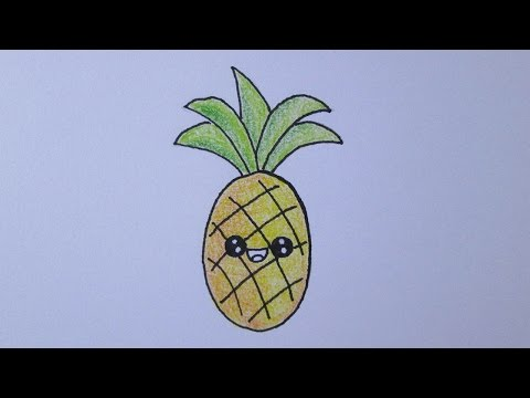 Como Desenhar Um Abacaxi Kawaii Youtube