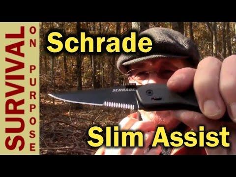 Schrade SCHA9 Thin Assist Folding Knife – TM9