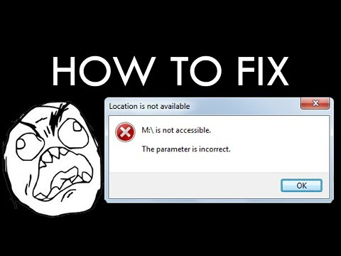 "How to fix ""Parameter is incorrect"" on External Hardisk"