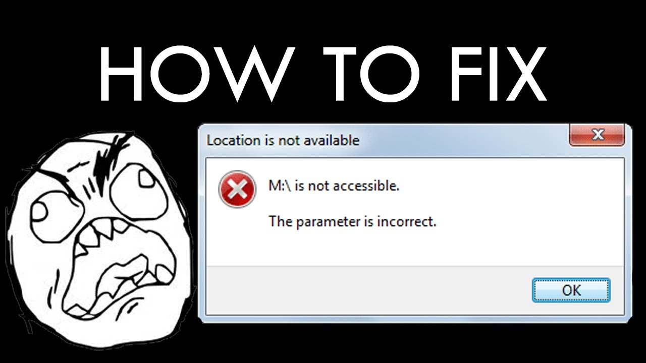 How To Fix Parameter Is Incorrect On External Hardisk