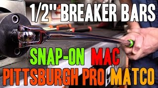 "Download Video Snap-on -VS- Mac -VS- Matco -VS- Pittsburgh Pro (Harbor Freight) - 1/2"" Breaker Bars (MADE IN USA) MP3 3GP MP4"