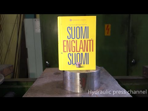 Book Vs Hydraulic Press Crushing book with hydraulic press