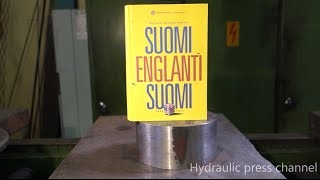Crushing book with hydraulic press thumbnail