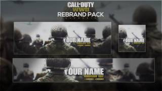 Call of Duty WWII Social Media Rebrand Pack