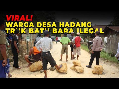 VIRAL!!! Warga Desa Hadang TRUK BATU BARA ILEGAL!
