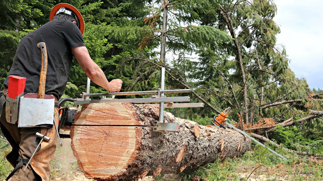 Amazing Chainsaw Mill Granberg Youtube