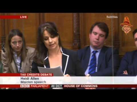 Heidi Allen's Maiden Speech on Tax Credit Cuts