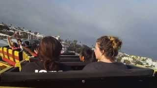 Roller coaster at Pacific Park in Santa Monica Pear - On Ride Video