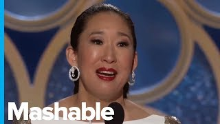 Sandra Oh Makes History At The 2019 Golden Globes, And She Thanks Her Parents In Korean