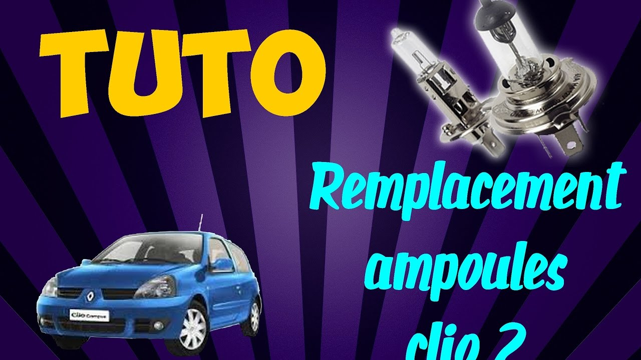 tuto remplacement ampoules phare avant clio 2 youtube