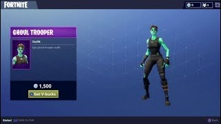 new SKINS! ghoul trooper return?? FORTNITE IEM SHOP!!!