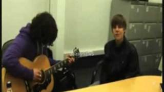 Justin Bieber singing On Bended Knees