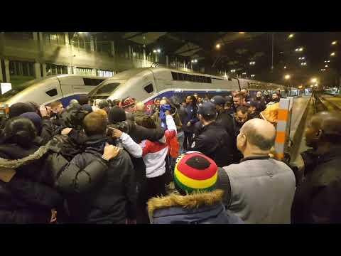 Retour des parisiennes a gare de lyon hier soir