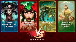 Commander Vs S2E8: Savra vs Mayael vs Reaper King vs Trostani [MtG: Multiplayer]