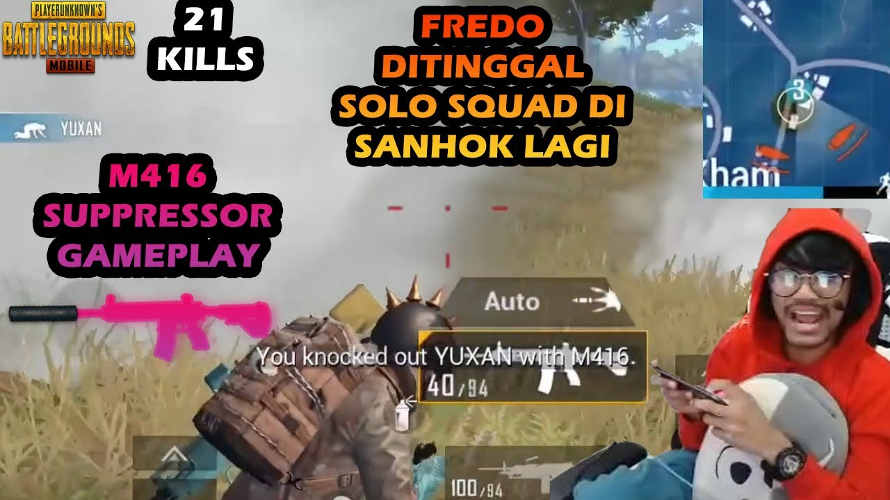 FREDO DITINGGAL 1V4 SEORANG DIRI DI HUTAN SANHOK. MOST INTENSE LAST CIRCLE. M416 SUPPRESSOR GAMEPLAY