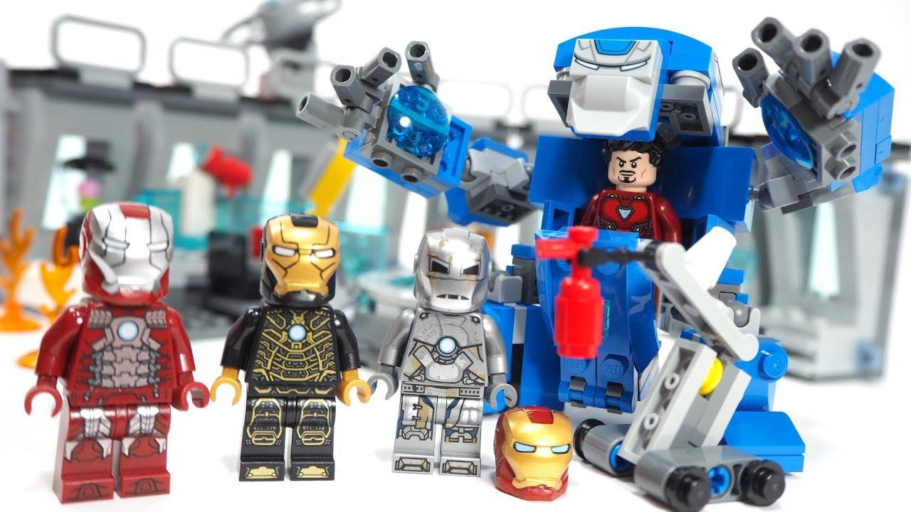 lego marvel avengers iron man hall of armor 76125 - 1280×720