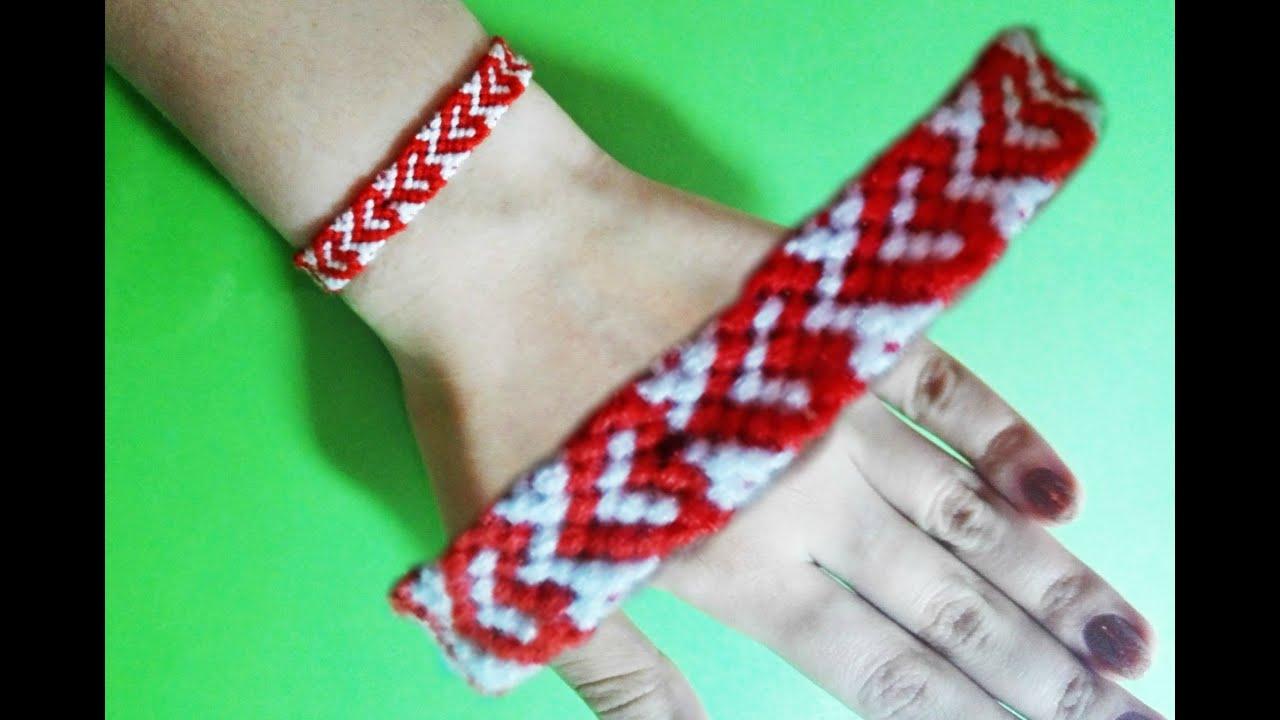 Diy Heart Friendship Bracelets, Super Cute Bracelet! :)