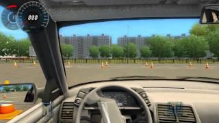 Разворот на участке ограниченной ширины (автодром) 3D Инструктор