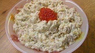 Салат из редьки с мясом под майонезом - видео рецепт