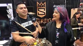 Sovereign Cymbals at NAMM 18 on Drum Talk TV