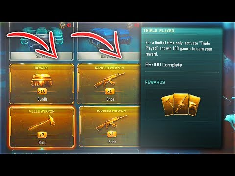 2 FREE DLC WEAPONS IN 1 TRIPLE PLAY SUPPLY DROP OPENING.. (Black Ops 3 NEW Triple Play Contract)