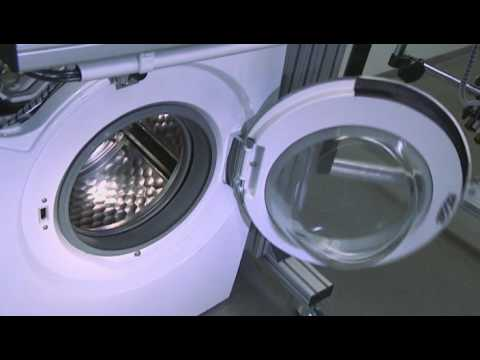 miele washing machines proof of quality door impact test w 1000 youtube. Black Bedroom Furniture Sets. Home Design Ideas