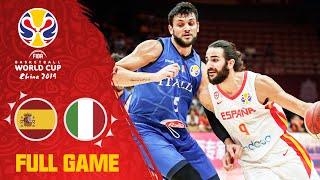 Spain narrowly survive Gallinari & Italy - Full Game - FIBA Basketball World Cup 2019