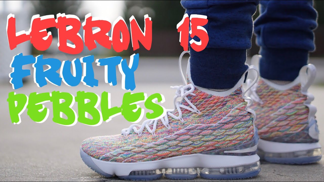72afa87d9d0e NIKE LEBRON 15 FRUITY PEBBLES   CEREAL (on feet) - YouTube