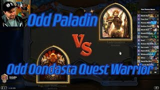 Odd Oondasta Quest Warrior vs Odd Paladin - Hearthstone