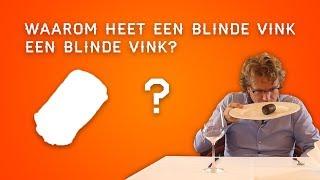 waarom heet een blinde vink een blinde vink? horeca weetjes