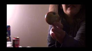 girls first time with a apple pipe