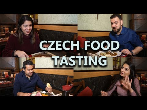 Czech food tasting by foreigners