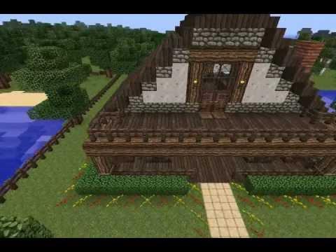 Minecraft Waterfront House