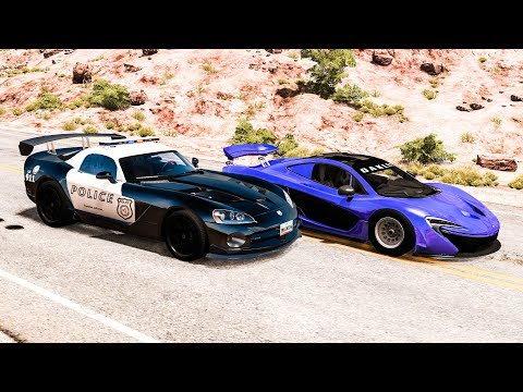 Extreme Police Chases #14 - BeamNG DRIVE