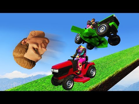 THIS MOWER IS CRAZY!? (GTA 5 Funny Moments)