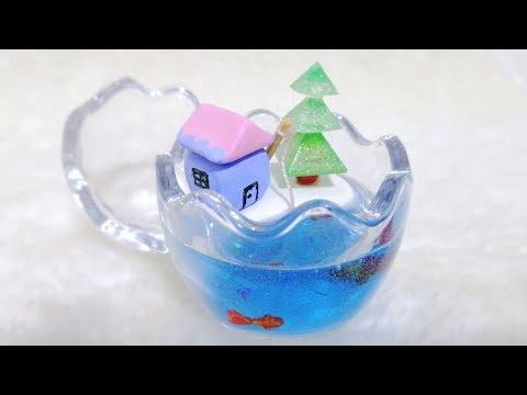 Diy Christmas Cottage: Clay + Resin [Gift/decor idea]