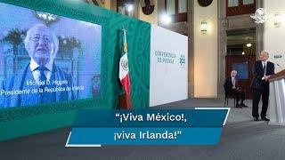 El presidente de Irlanda, Michael D. Higgins, felicitó México por el 211 aniversario del inicio de la Independencia