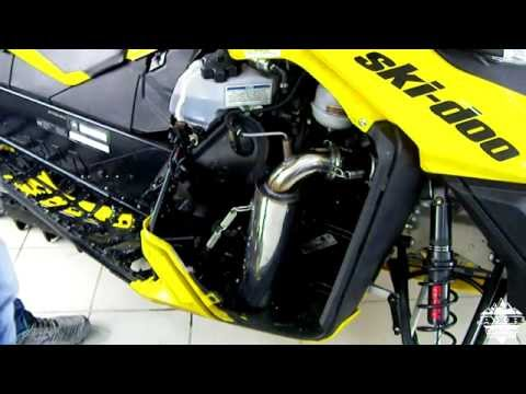 установка прямотока Ski-Doo Summit 800 E-Tec exhaus muffler sound
