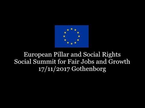 European Pillar of Social Rights, 17/11/2017  Introductory Session sottotitoli in ITA