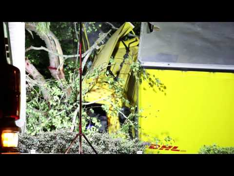 Truck Crash in Bethlehem  Tauranga    New Zealand