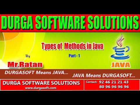 Corejava   Basics  Types of Methods in Java Part -1