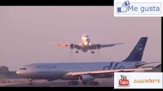 Espectacular maniobra de un piloto evita un terrible accidente en el aeropuerto de Barcelona
