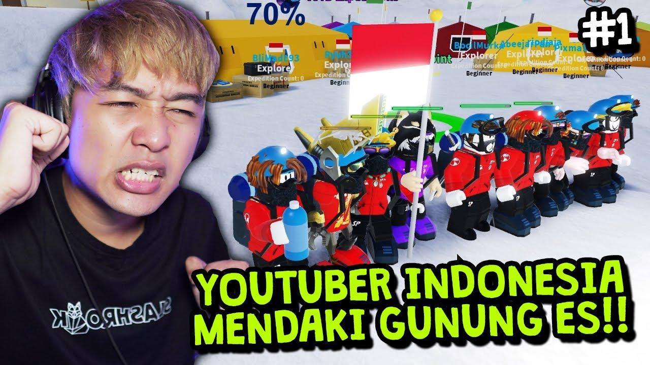 YOUTUBER INDONESIA MENDAKI GUNUNG ES 😁 FEAT @Windah Basudara @RyuHere @Mr. CusCus   Roblox Indonesia
