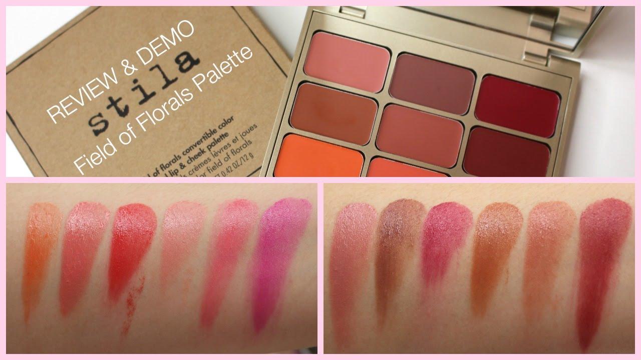Stila Field Of Florals Convertible Lip Amp Cheek Palette Review Bailey B Youtube