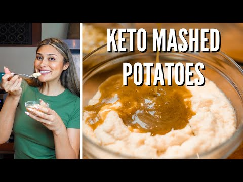 best-keto-mashed-potatoes-recipe!-how-to-make-keto-mashed-potatoes-&-gravy-for-thanksgiving!-1-carb