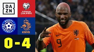 Babel-Doppelpack sichert Niederlande Doppel-Dreier: Estland - Niederlande 0:4 | EM-Quali | DAZN
