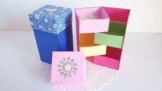서랍접기 색종이 7장으로 만들기 상자종이접기  수납상자…