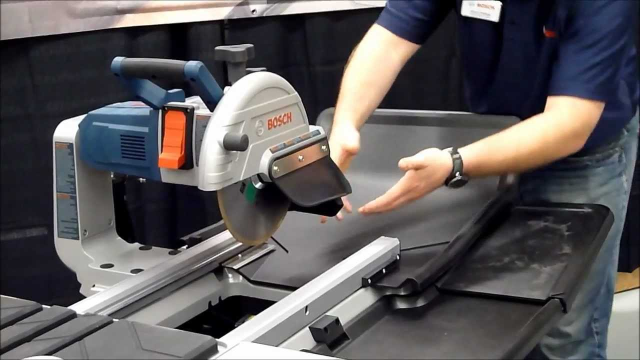 Bosch TC Inch Wet Tile Stone Saw YouTube - Bosch tile saw for sale